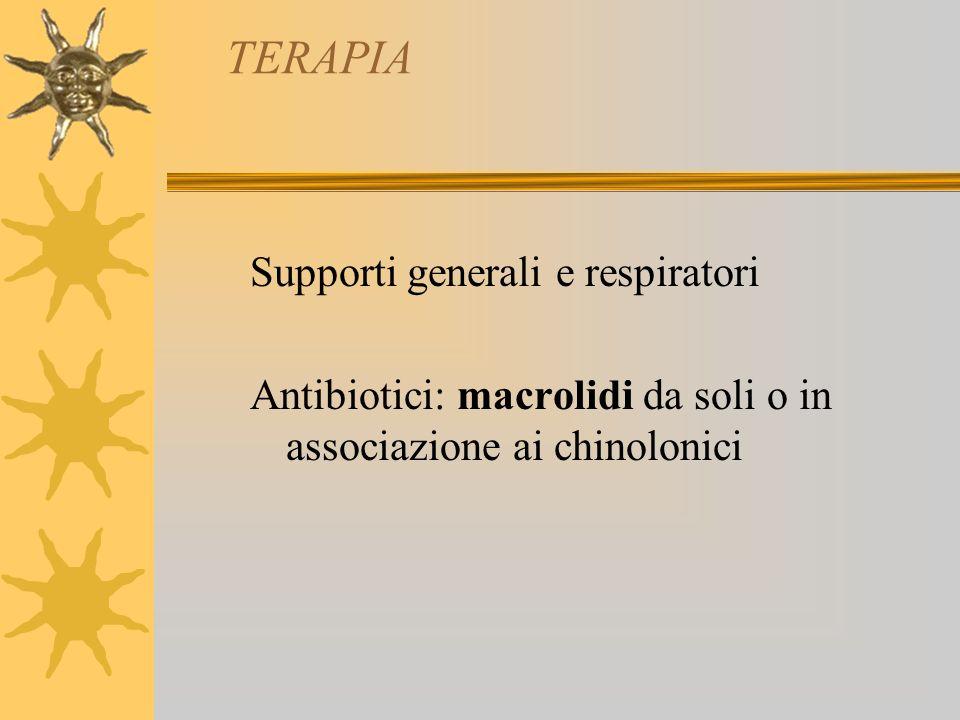 TERAPIA Supporti generali e respiratori
