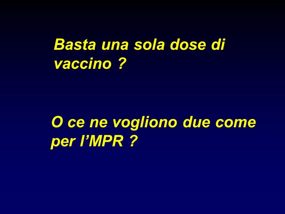 Basta una sola dose di vaccino O ce ne vogliono due come per l'MPR