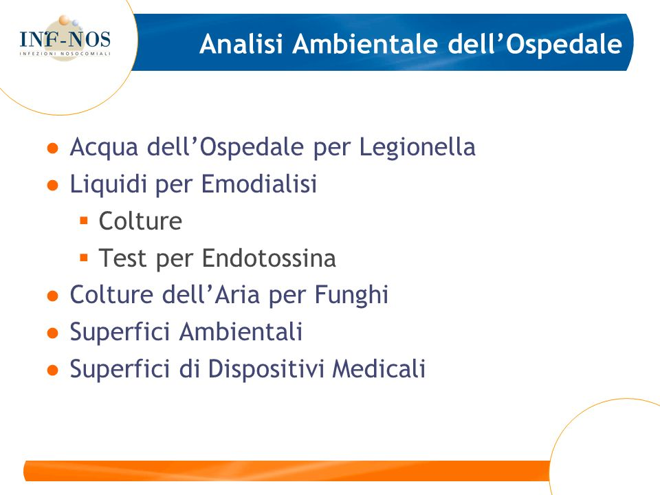 Analisi Ambientale dell'Ospedale