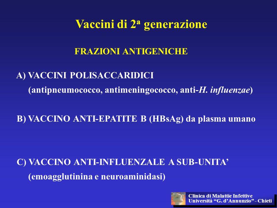 Vaccini di 2a generazione
