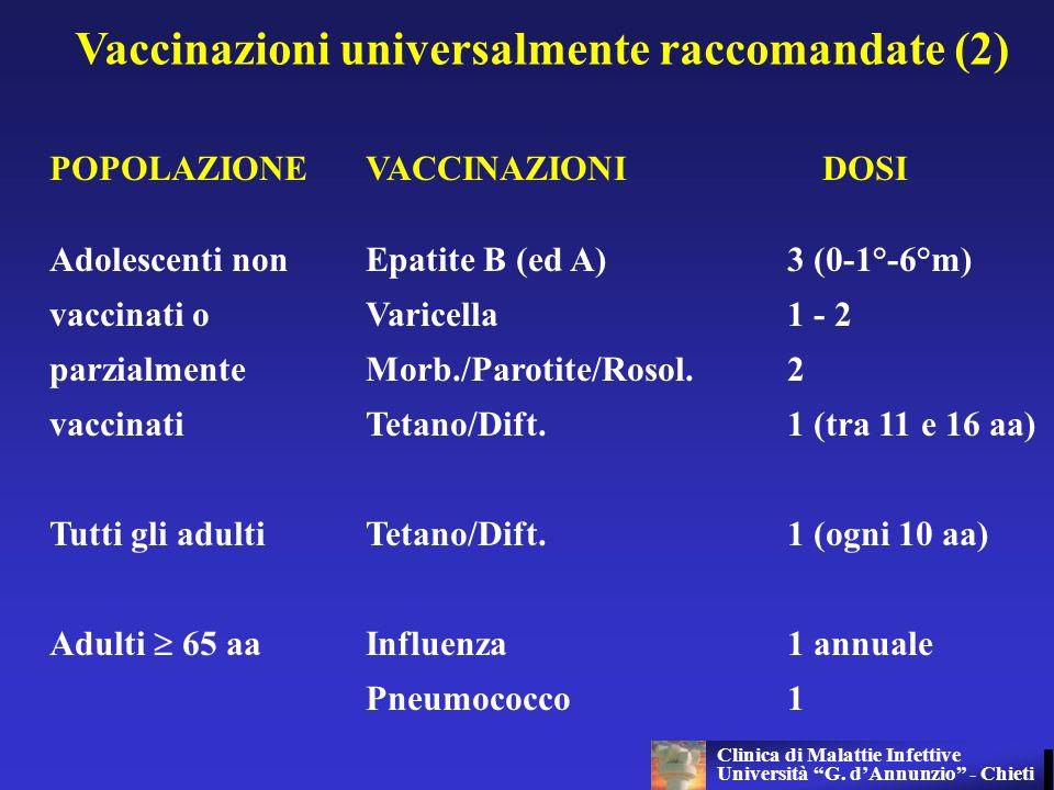 Vaccinazioni universalmente raccomandate (2)