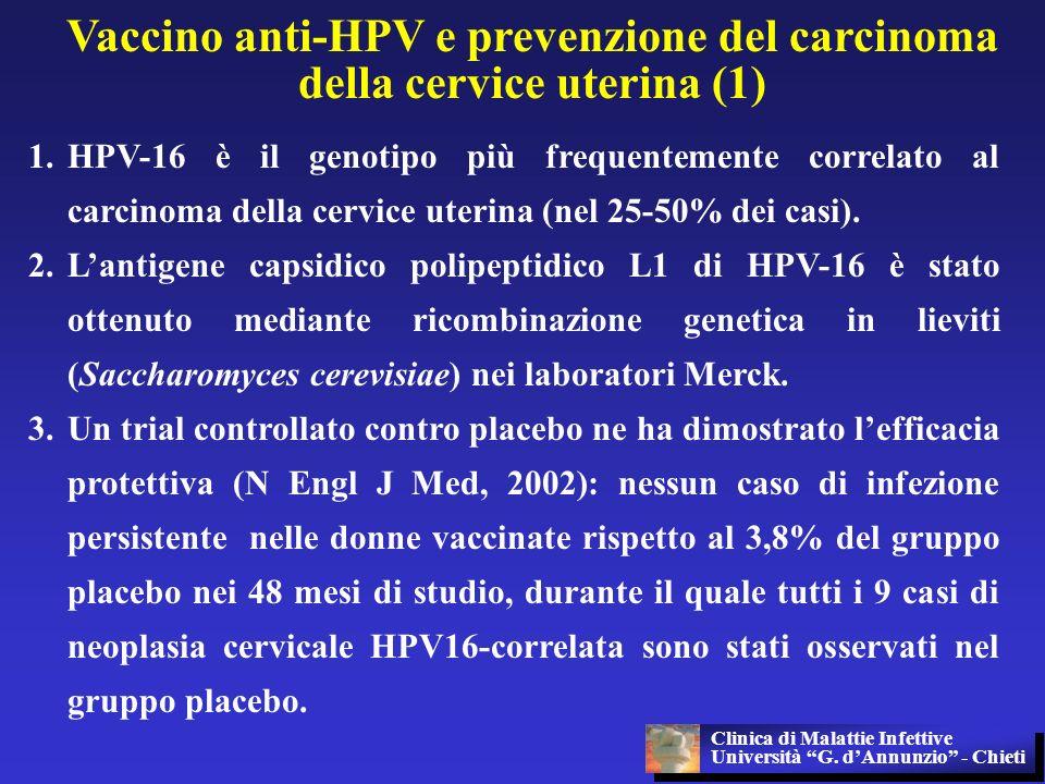 Vaccino anti-HPV e prevenzione del carcinoma della cervice uterina (1)