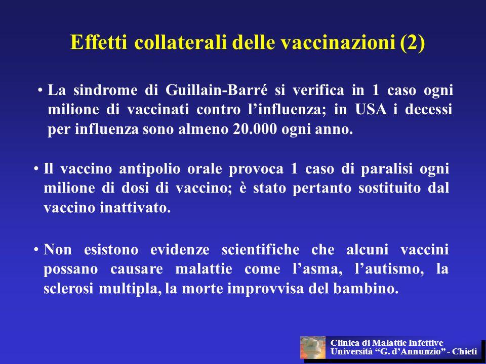 Effetti collaterali delle vaccinazioni (2)