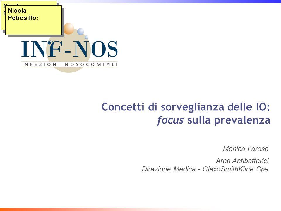 Concetti di sorveglianza delle IO: focus sulla prevalenza