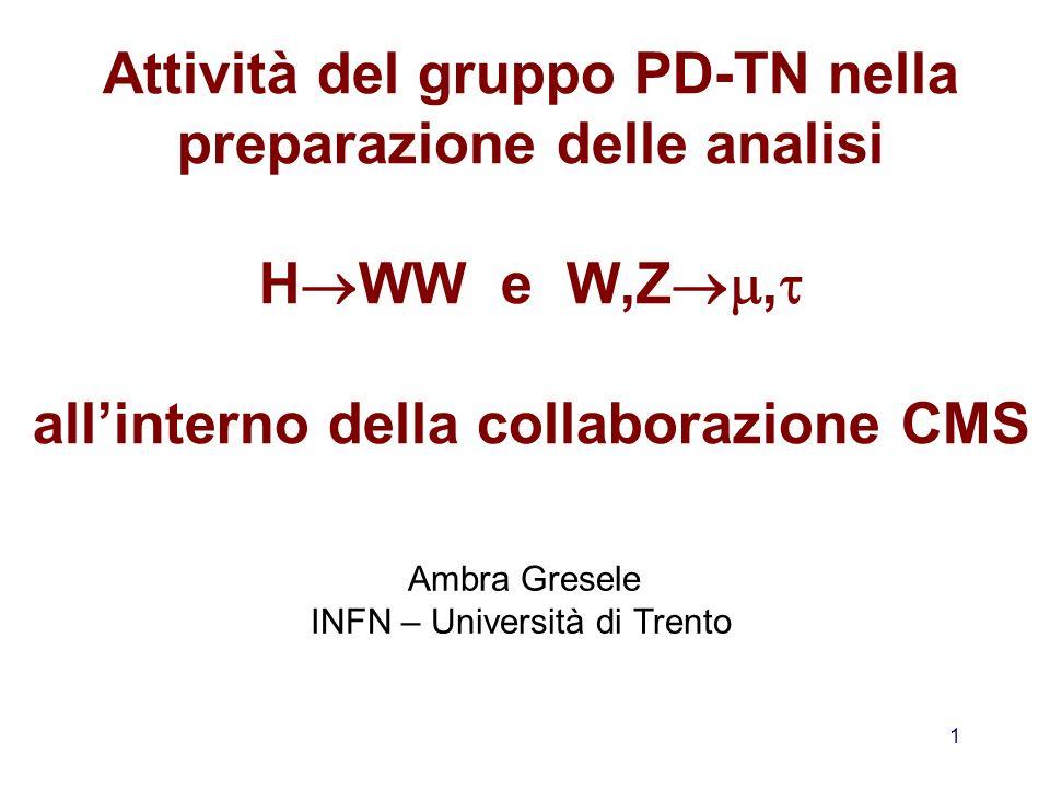 INFN – Università di Trento