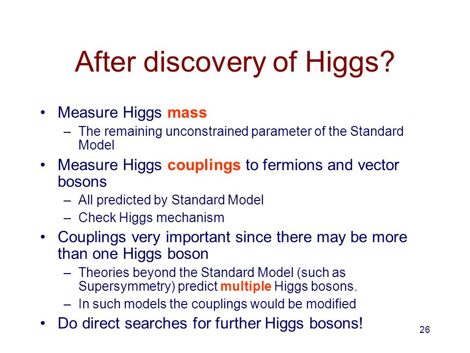 After discovery of Higgs