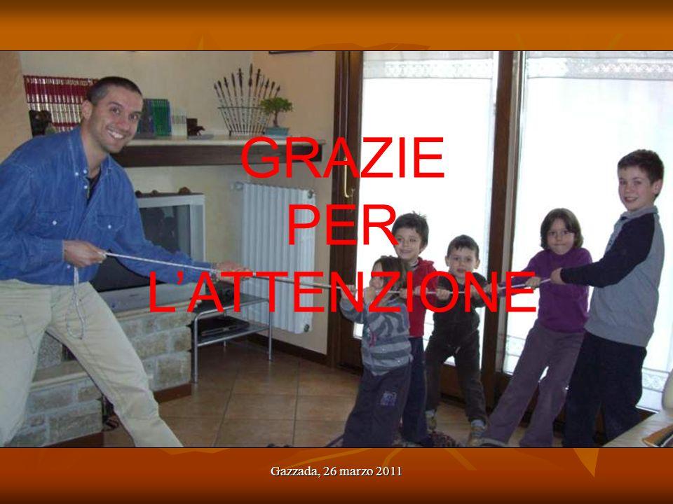 …alcune conclusioni GRAZIE PER L'ATTENZIONE Gazzada, 26 marzo 2011