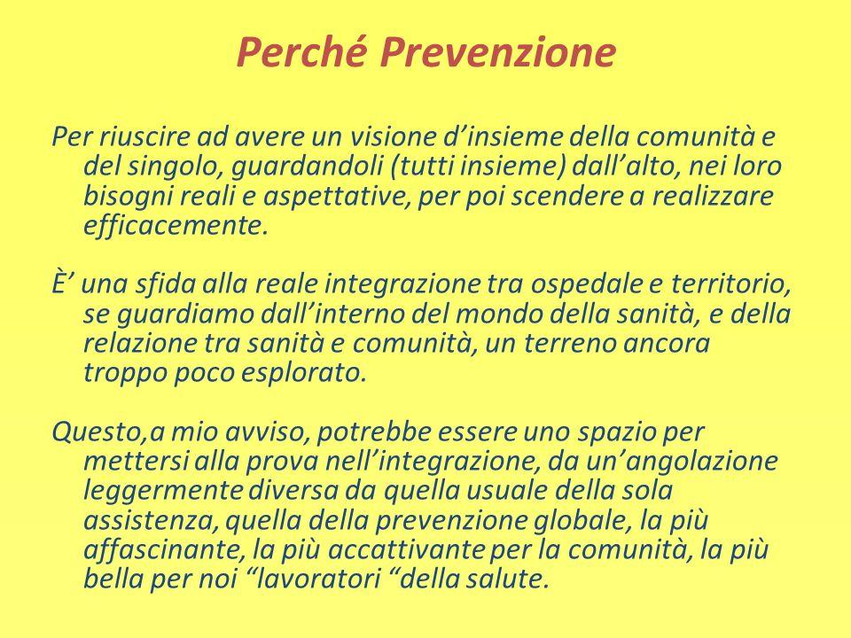 Perché Prevenzione