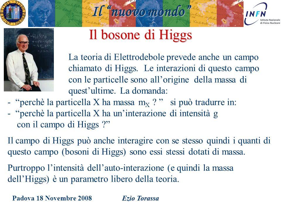 Il nuovo mondo Il bosone di Higgs
