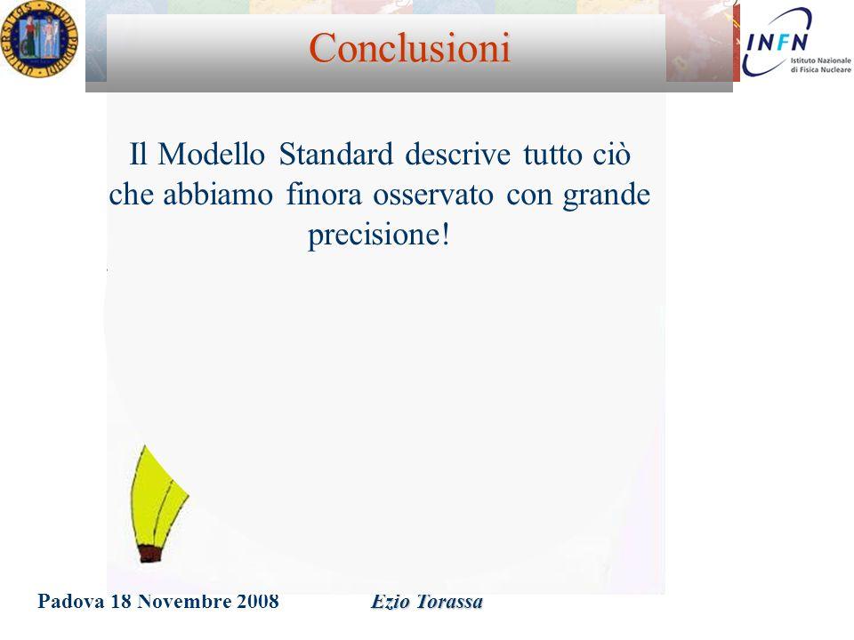 Conclusioni Il Modello Standard descrive tutto ciò che abbiamo finora osservato con grande precisione!