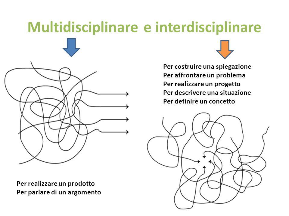 Multidisciplinare e interdisciplinare