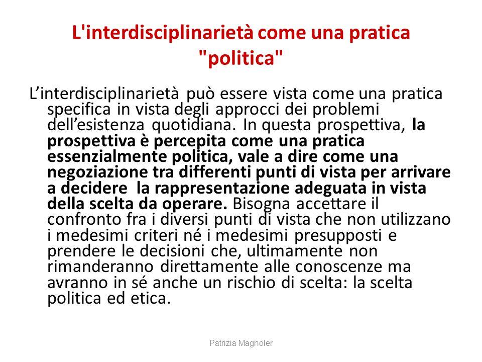 L interdisciplinarietà come una pratica politica