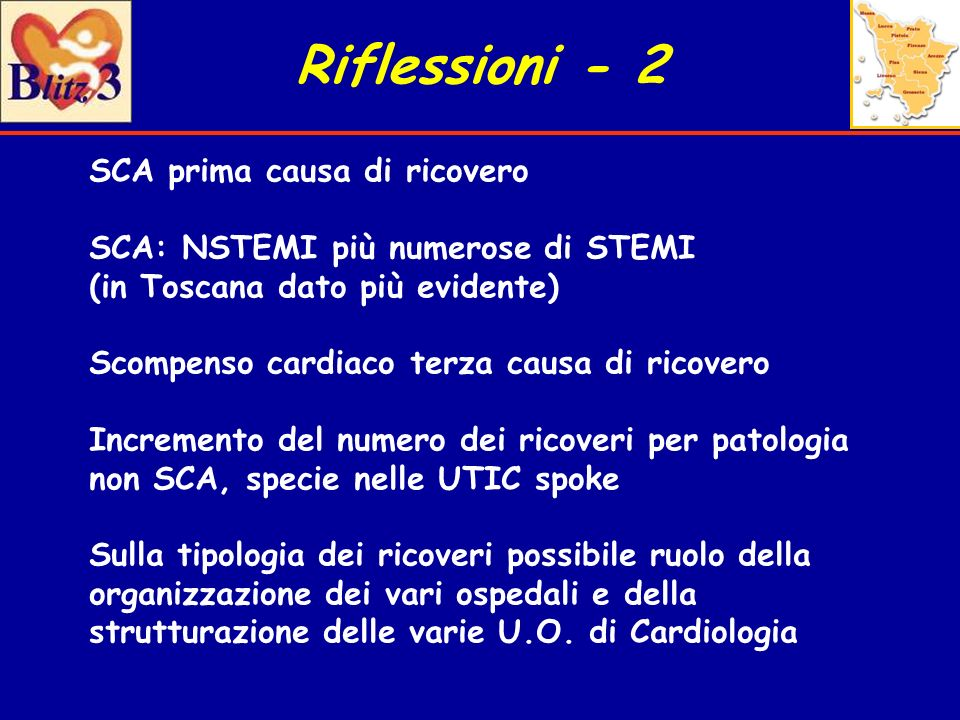 Riflessioni - 2 SCA prima causa di ricovero
