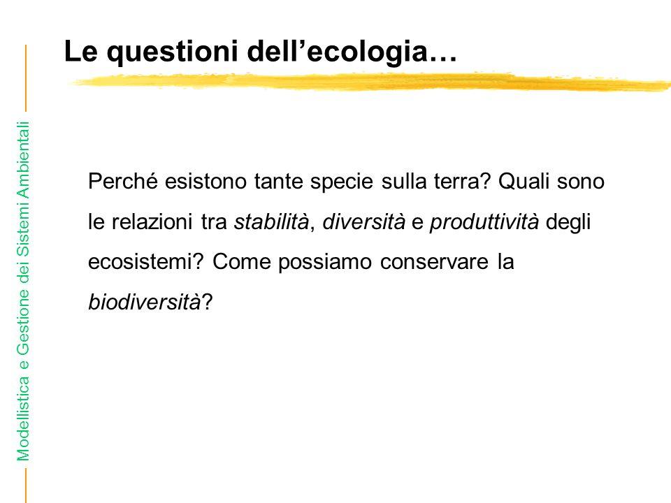 Le questioni dell'ecologia…