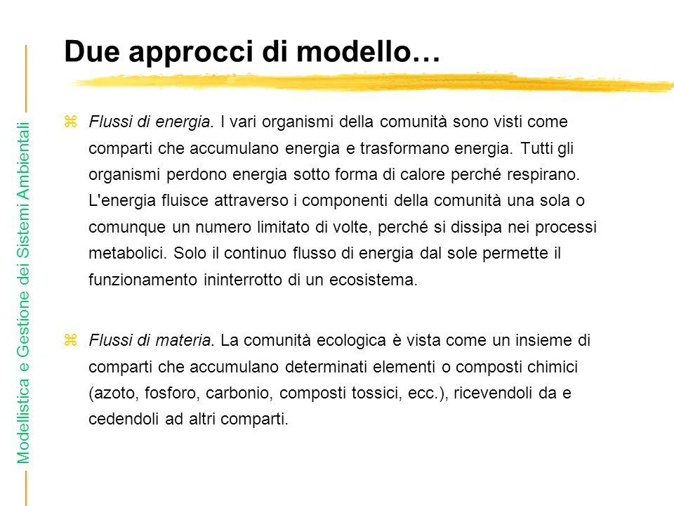 Due approcci di modello…