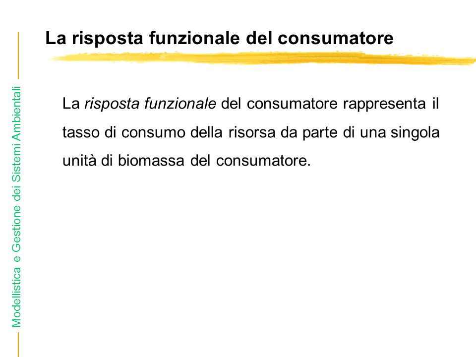 La risposta funzionale del consumatore
