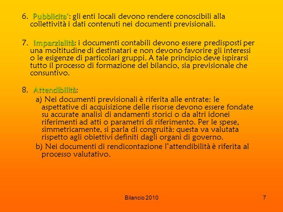 Pubblicita': gli enti locali devono rendere conoscibili alla collettività i dati contenuti nei documenti previsionali.