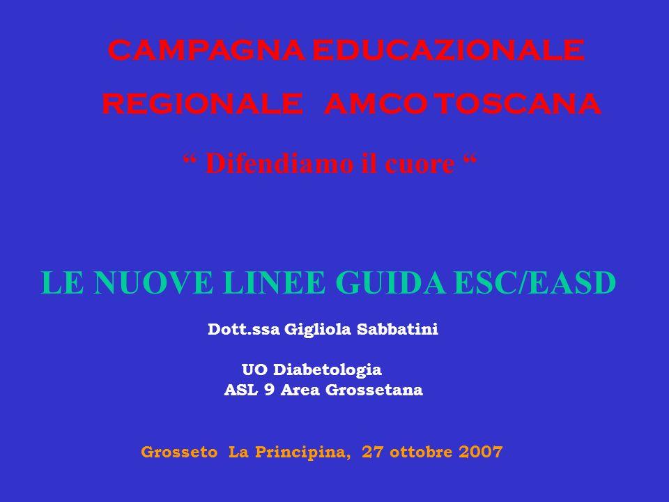 LE NUOVE LINEE GUIDA ESC/EASD