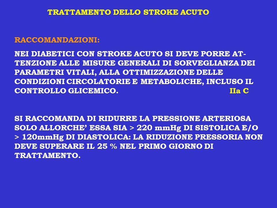 TRATTAMENTO DELLO STROKE ACUTO