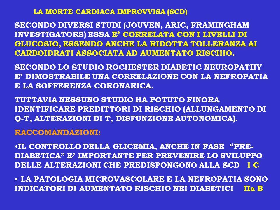 LA MORTE CARDIACA IMPROVVISA (SCD)
