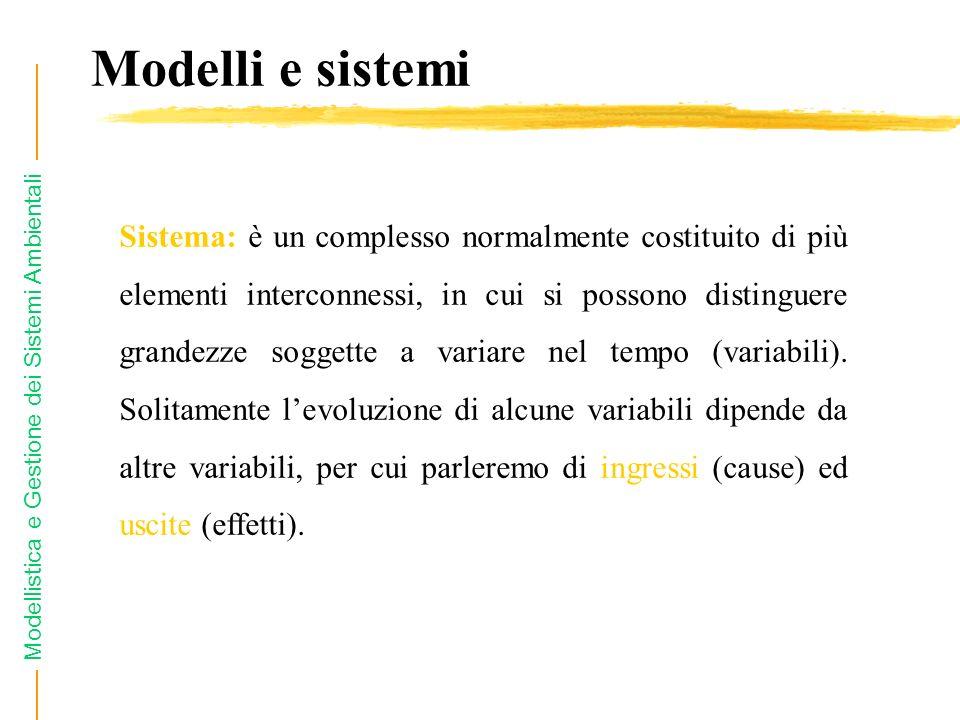 Modelli e sistemi