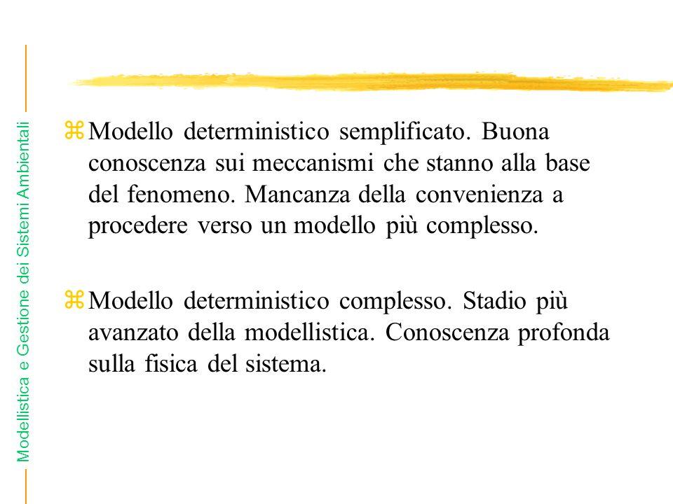 Modello deterministico semplificato