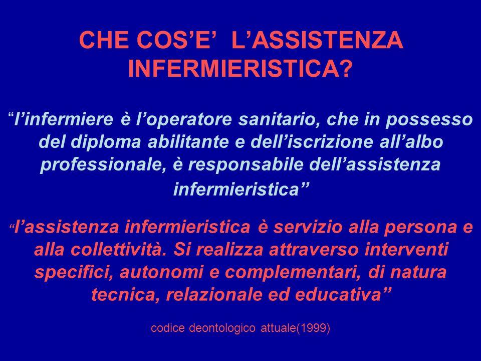 CHE COS'E' L'ASSISTENZA INFERMIERISTICA