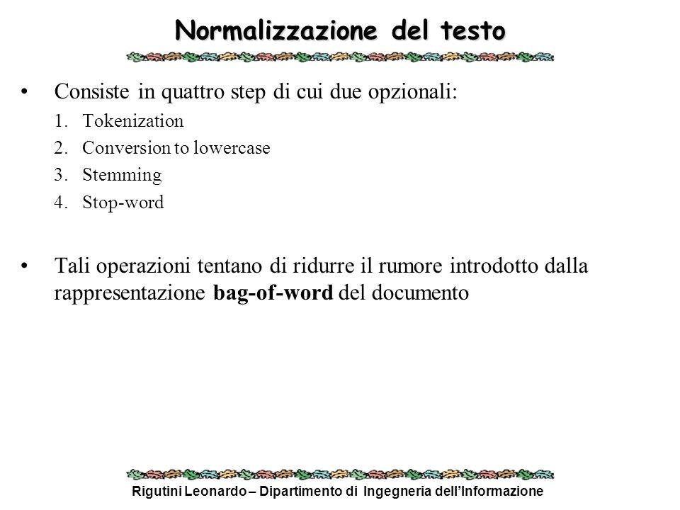 Normalizzazione del testo