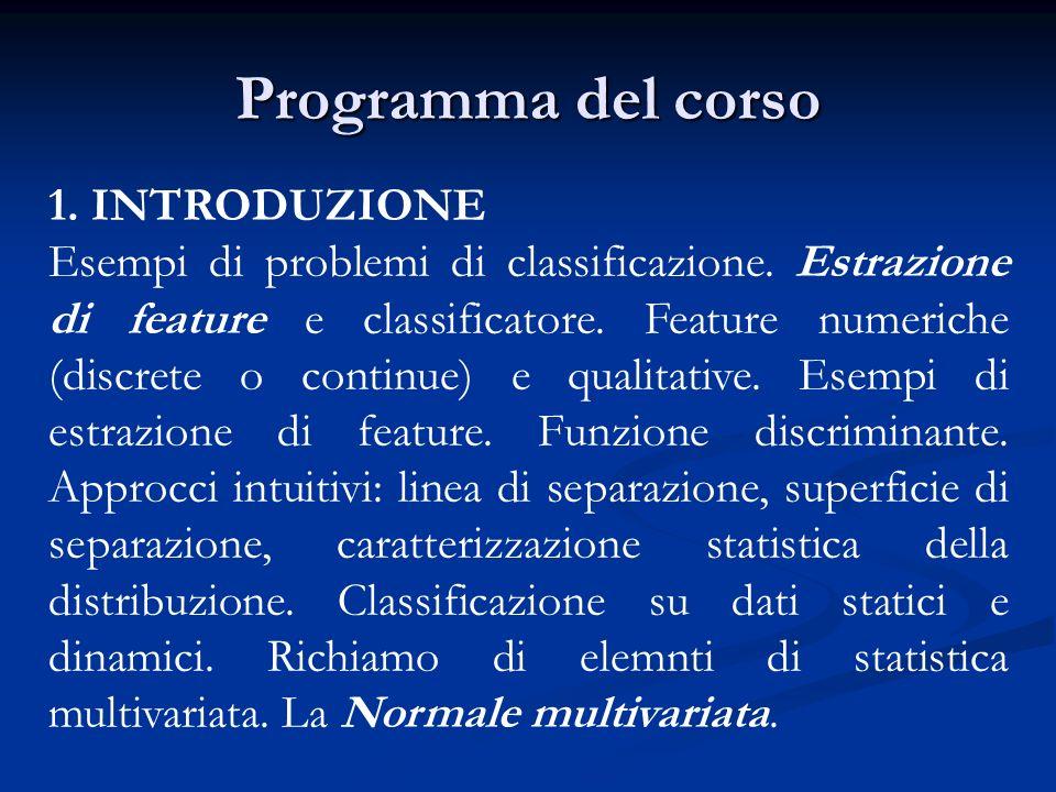 Programma del corso 1. INTRODUZIONE