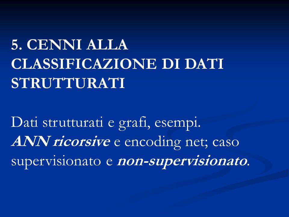 5. CENNI ALLA CLASSIFICAZIONE DI DATI STRUTTURATI