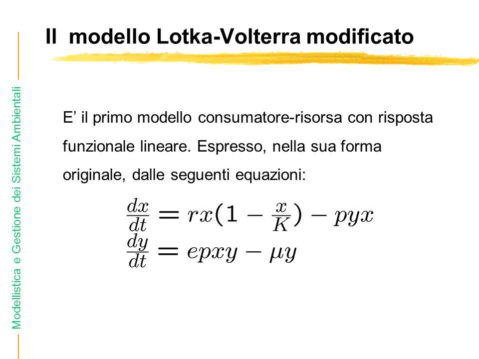 Il modello Lotka-Volterra modificato