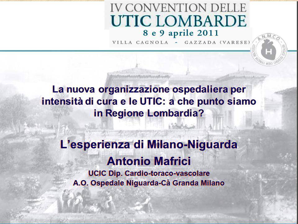 L'esperienza di Milano-Niguarda Antonio Mafrici