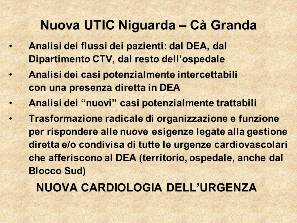 Nuova UTIC Niguarda – Cà Granda