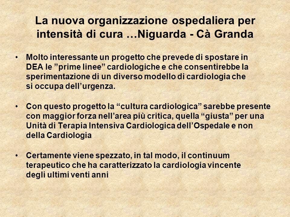 La nuova organizzazione ospedaliera per intensità di cura …Niguarda - Cà Granda