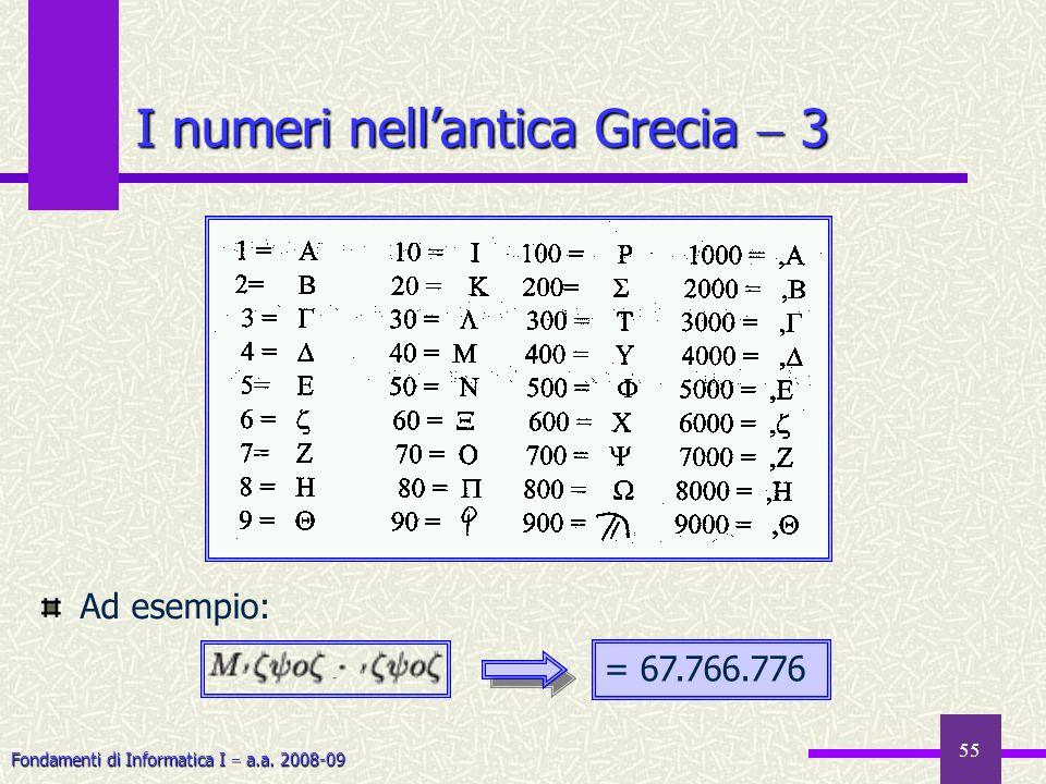 I numeri nell'antica Grecia  3