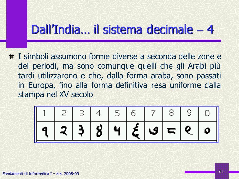 Dall'India… il sistema decimale  4