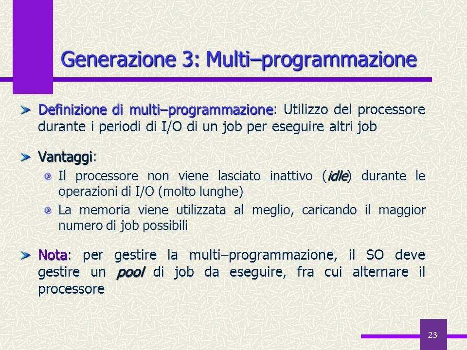 Generazione 3: Multi–programmazione
