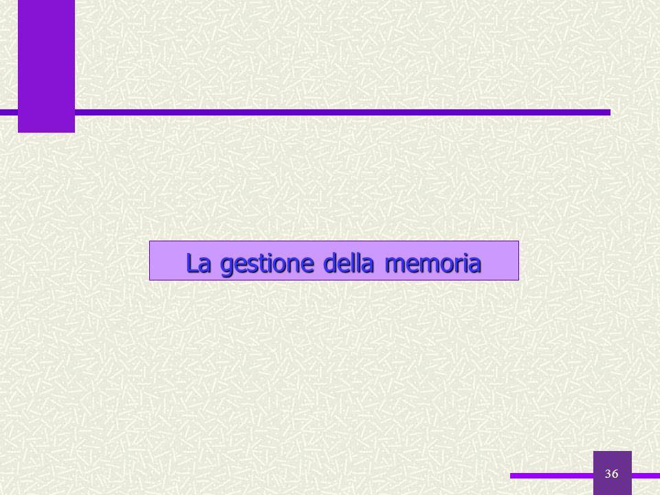 La gestione della memoria
