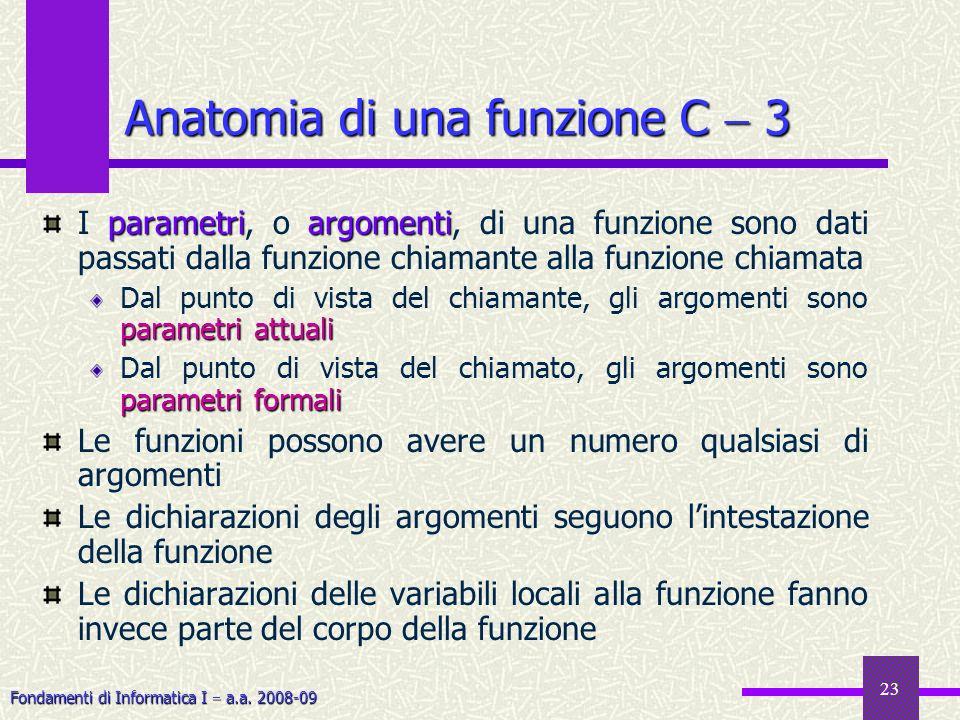Anatomia di una funzione C  3