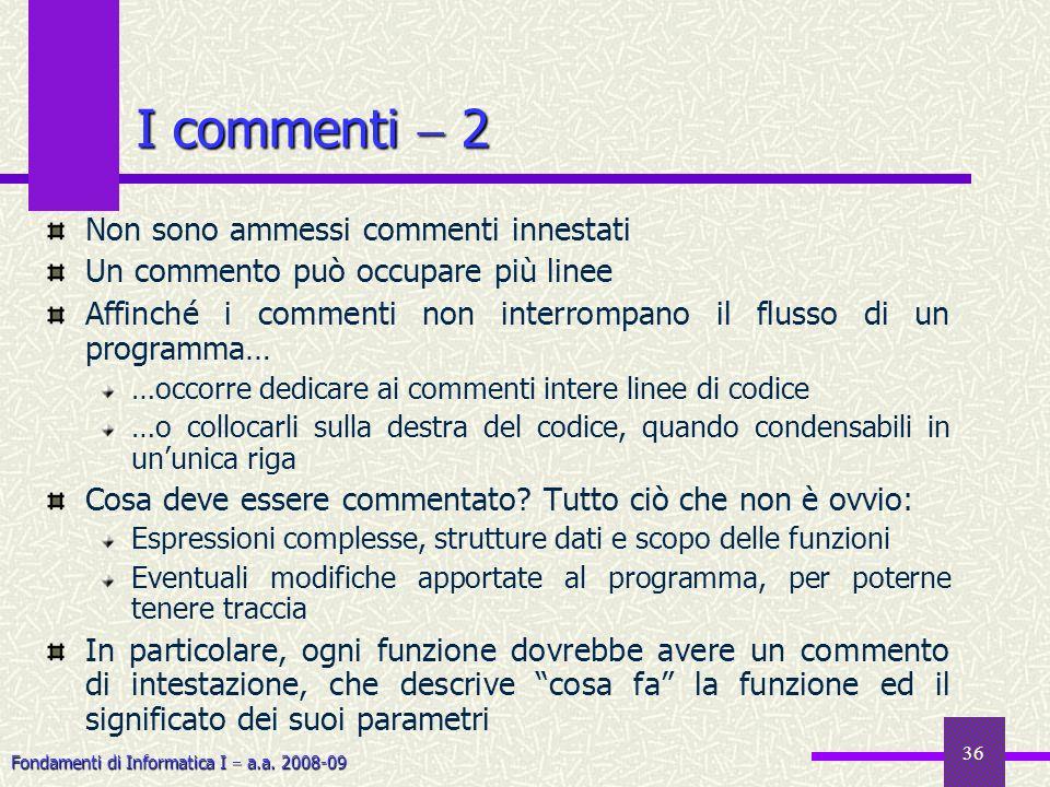 I commenti  2 Non sono ammessi commenti innestati