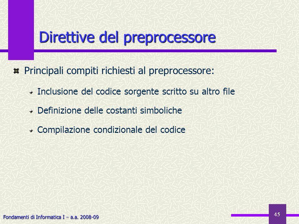 Direttive del preprocessore