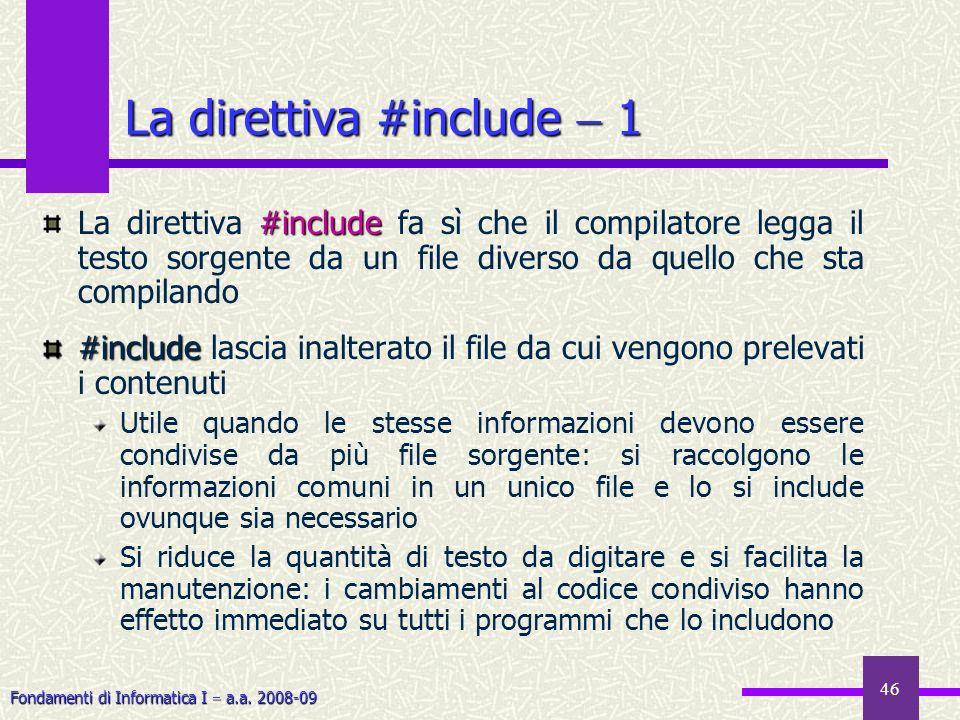 La direttiva #include  1