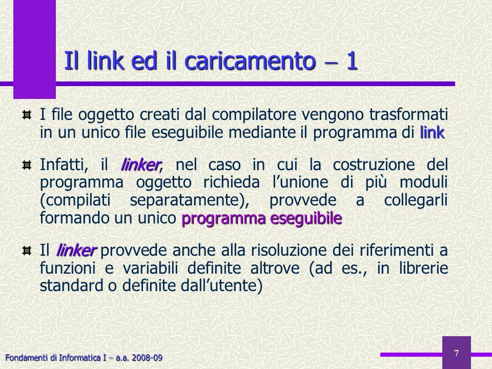 Il link ed il caricamento  1