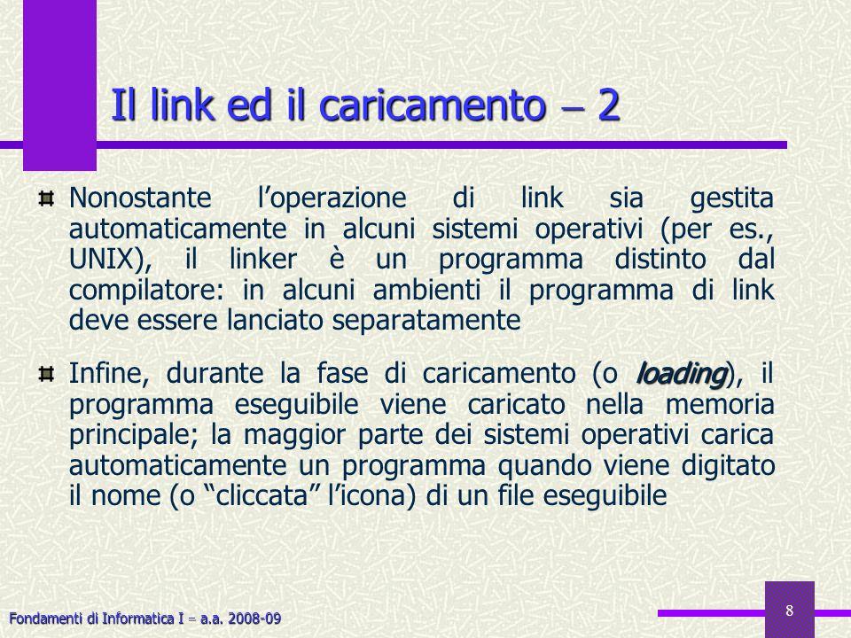 Il link ed il caricamento  2