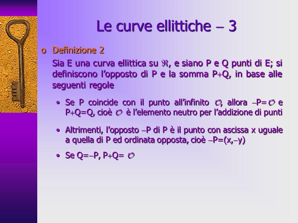 Le curve ellittiche  3 Definizione 2