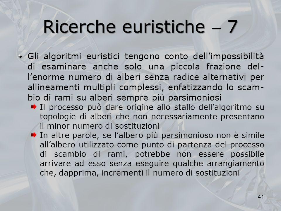 Ricerche euristiche  7
