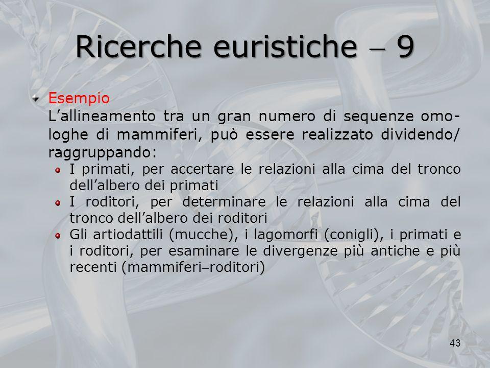 Ricerche euristiche  9 Esempio