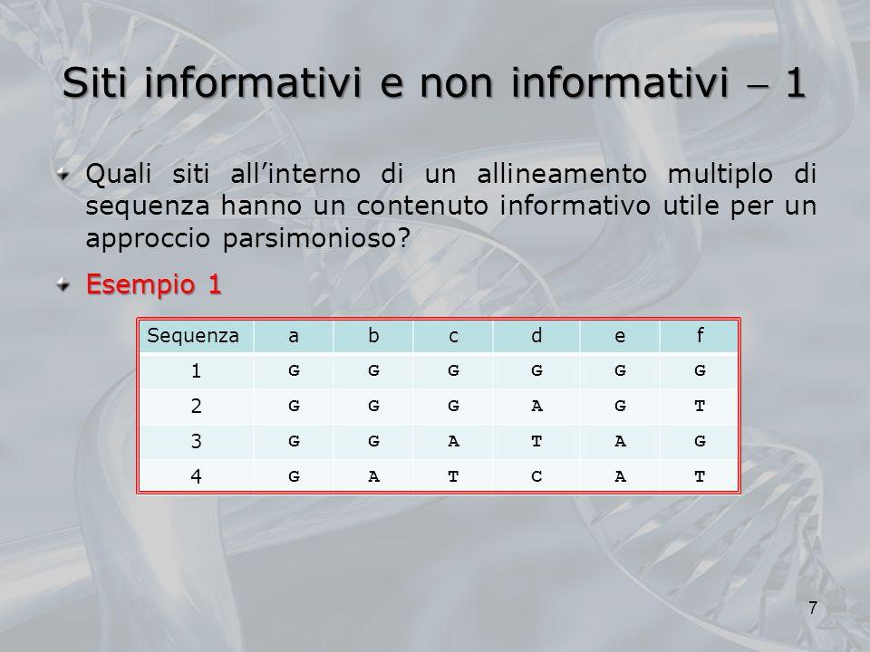 Siti informativi e non informativi  1
