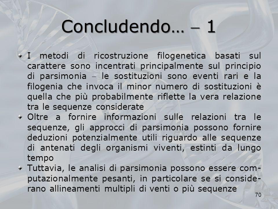Concludendo…  1