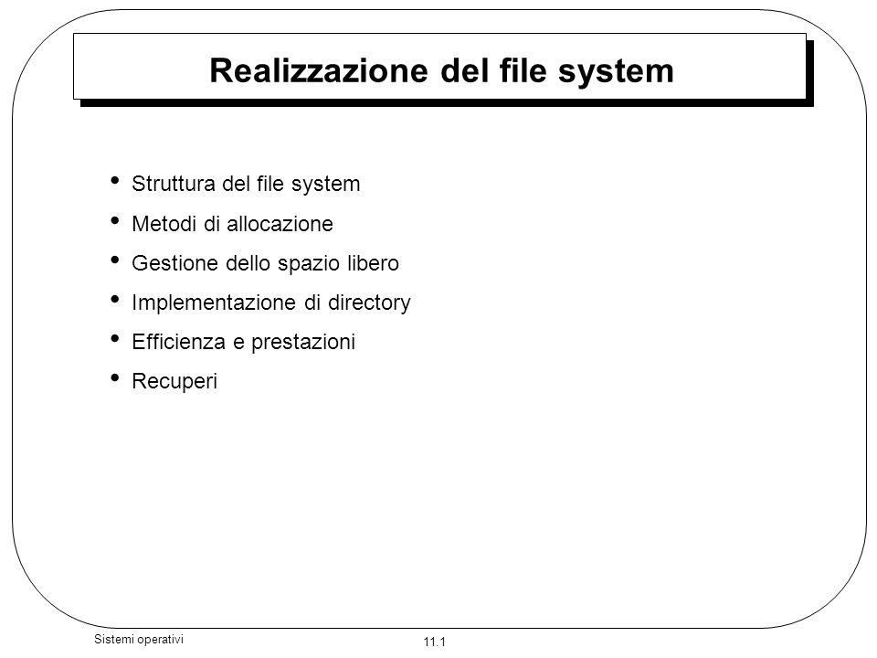 Realizzazione del file system